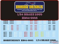 HD040005 Brake Logo decals Waterslide decal Decal