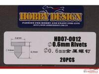 HD070012 0.6 mm Rivet Head (D)  20pcs Multimedia Accessoires