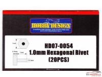 HD070054 1.0 mm Hexagonal Rivet  20pcs Multimedia Accessoires