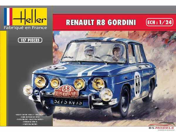HEL80700 Renault R8 Gordini Plastic Kit