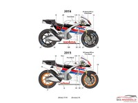 STU27DC1211 Honda RC213V  Demo run Motegi  #14  2015/2016 Waterslide decal Decal