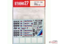 "STU27DC697C BMW 635 Csi  ""M Technic""  ETCC  1983 Waterslide decal Decal"