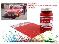 "ZP1342 Starsky & Hutch ""Ford Gran Torino""  bright red paint 60ml Paint Material"