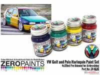 ZP1526 Volkswagen Harlequin paint set 4x30ml Paint Material