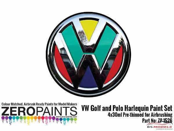 ZP1526 Volkswagen Harlequin paint set 4x30ml Paint Material