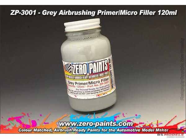ZP3001 Grey Filler primer  120ml airbrush ready Paint Material