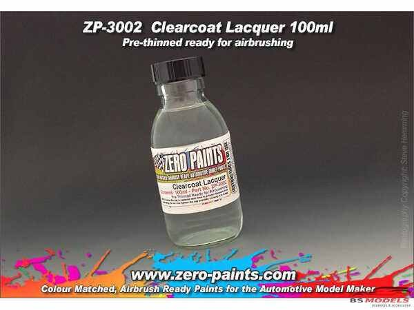 ZP3002 Clearcoat 1K Lacquer  airbrush ready  100ml Paint Material