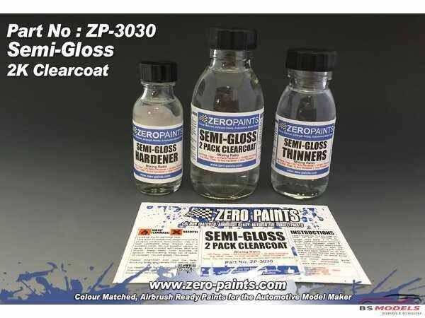 ZP3031 Semi-Gloss 2 pack clearcoat  (2K Urethane) 100ml Paint Material
