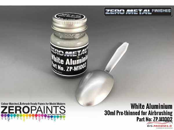 ZPM1002 Zero Metal  White Aluminium paint  30ml Paint Material
