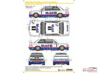 SK24052 BMW M3 E30  Macau Guia 1992 Mobil 1 Waterslide decal Decal