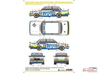 SK24067 Volvo 240 Turbo ETCC  Sportpromotion  Zolder 1984 Waterslide decal Decal