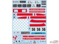 ITA4705 Fiat Abarth 695 SS / Assetto Corsa Plastic Kit