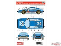 "STU27DC1027 Ferrari 308GTB  ""Pioneer"" #4  winner TDF 1982 Waterslide decal Decal"