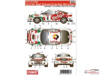 "STU27DC1038 Toyota ST185 ""Belga"" #2 winner Boucles de Spa 1994 Waterslide decal Decal"