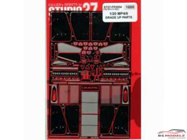 STU27FP2054 Mclaren MP4/6 upgrade parts Etched metal Accessoires