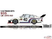 STU27SDT2473 Porsche 935 #40  LM 1976  spare decal Waterslide decal Decal