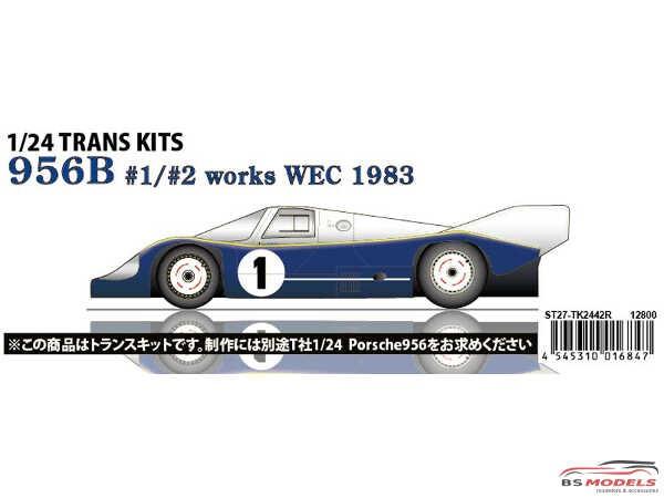 STU27TK2442 Porsche 956B  Works WEC 1983 Transkit Multimedia Transkit