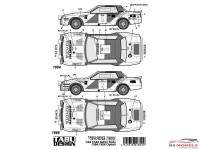 TABU24072 Toyota Celica  TA64 Safari Rally 1984-1986 option decals Waterslide decal Decal
