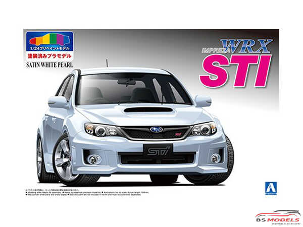 AOS004906 Subaru WRX STI   5 door satin white Plastic Kit