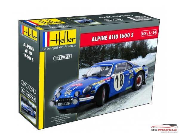 HEL80745 Alpine A110  1600c Plastic Kit