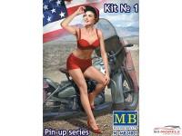 "MB24001 Marylin  ""Pin Up series""  figure Plastic Kit"