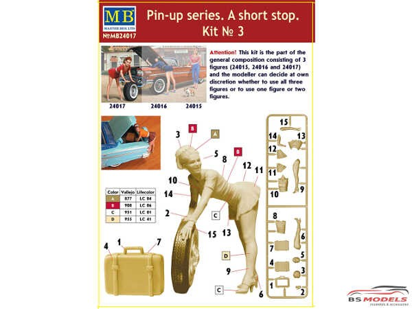 "MB24017 A Short Stop #3  ""Pin Up series"" figure Plastic Kit"