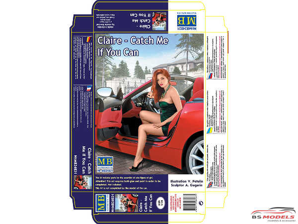 """MB24021 Claire """"Catch me if you can"""" figure Plastic Kit"""