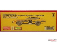 "STU27FR2416 Ferrari 365 GTB4 Daytona Competizione  #36  ""Ecurie Francorchamps""  LM1972 Resin Kit"