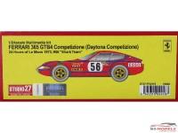 "STU27FR2418 Ferrari 365 GTB4 Daytona Competizione  #56    ""Shark Team""   LM 1973 Resin Kit"