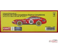 "STU27FR2420 Ferrari 365 GTB4 Daytona Competizione  #56/56    ""NART""   LM 1974 Resin Kit"