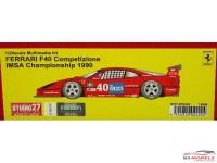 STU27FR2422 Ferrari F40 Competizione IMSA 1990 Resin Kit