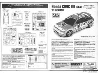 "BEE24018 Honda EF9 Civic  GR A  ""Idemitsu""  1991 Plastic Kit"