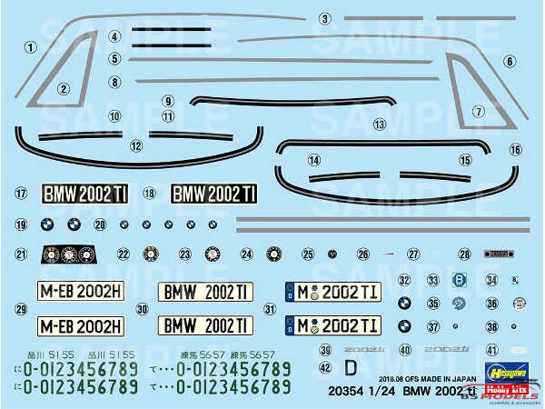 HAS20354 BMW 2002 ti Plastic Kit