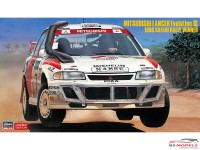 HAS20365 Mitsubishi Lancer EVO 3 Safari Rally 1996 Plastic Kit