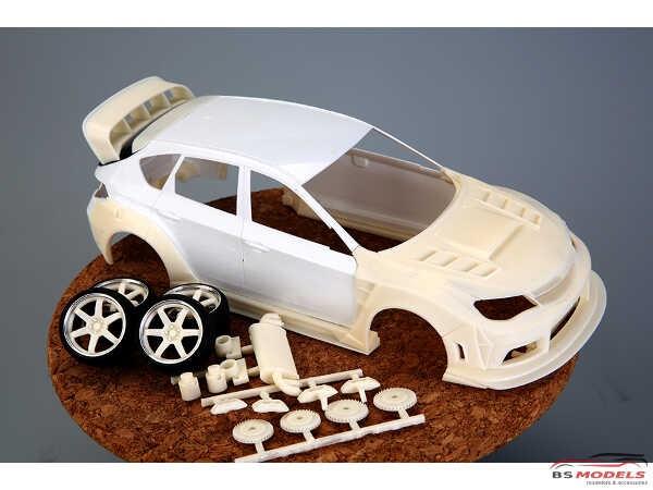 HD030523 Subaru Impreza WRX STI wide body kit FOR AOS Multimedia Transkit