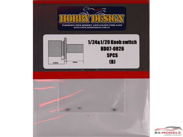 HD070026 Knob Switch (B) for 1/24 and 1/20 Multimedia Accessoires