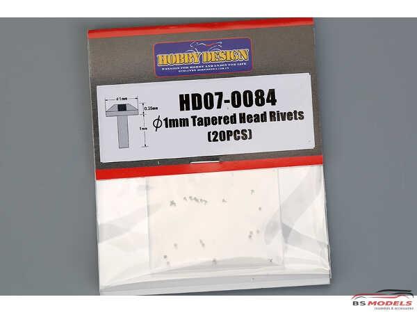 HD070084 1 mm Tapered Head Rivets (20pcs) Multimedia Accessoires