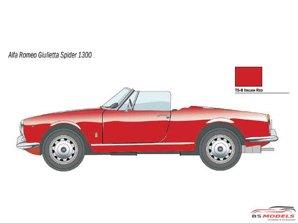 ITA3653S Alfa Romeo Giulietta Spider 1600 Plastic Kit