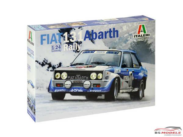 ITA3662S Fiat 131 Abarth Rally Plastic Kit
