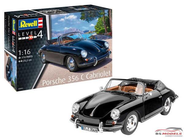 REV07043 Porsche 356 C Cabriolet Plastic Kit