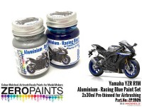ZP1528 Yamaha YZR R1M Aluminium and Racing Blue paint set 2 x 30ml Paint Material