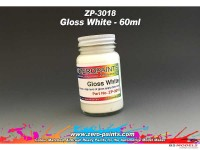 ZP3018 Gloss white paint 60ml Paint Material