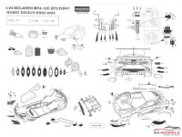 HD020203 Mclaren MP4-12C  GT3 detail set Multimedia Accessoires