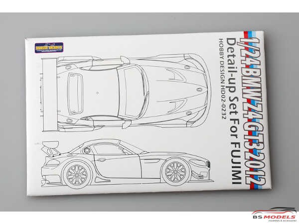HD020232 BMW Z4 GT3  2012  detail set (PE+metal parts) Multimedia Accessoires