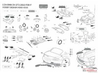 HD020232 BMW Z4 GT3  2012  detail set (PE+metal parts) Multimedia Accessoires