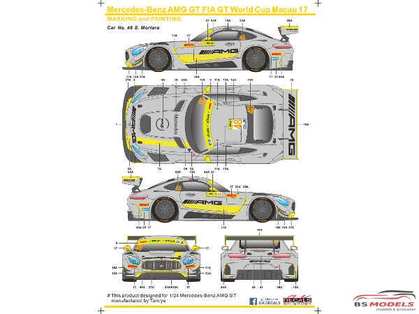 SK24069 Mercedes-Benz AMG GT FIA WC Macau 17 Waterslide decal Decal