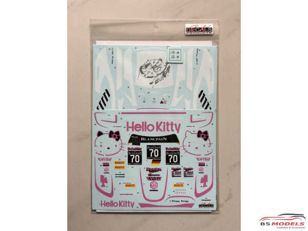SK24078 Mercedes-Benz AMG GT Blancpain GT 2017 Hello Kitty Waterslide decal Decal