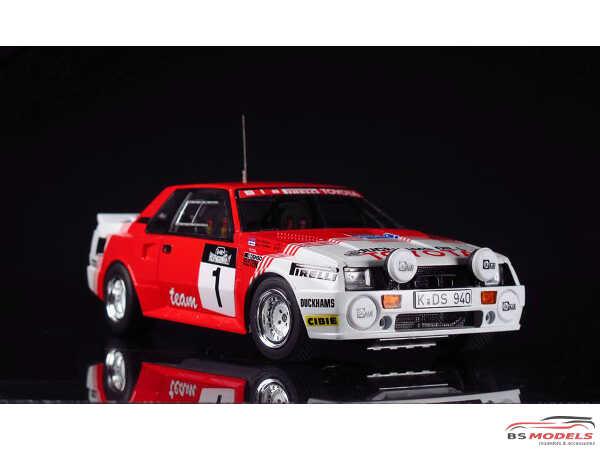 BEE24021 Toyota TA64  Celica  Haspengouw Rally 1985 Plastic Kit