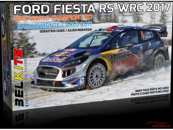 BEL012 Ford Fiesta RS WRC 2017  Monte-Carlo 2017  Ogier/Ingrassia Plastic Kit