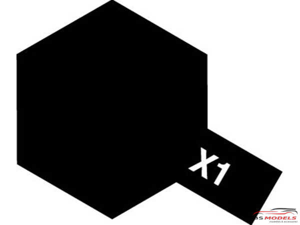 TAM81501 Tamiya color acrylic paint mini  X1 Black  10ml Paint Material